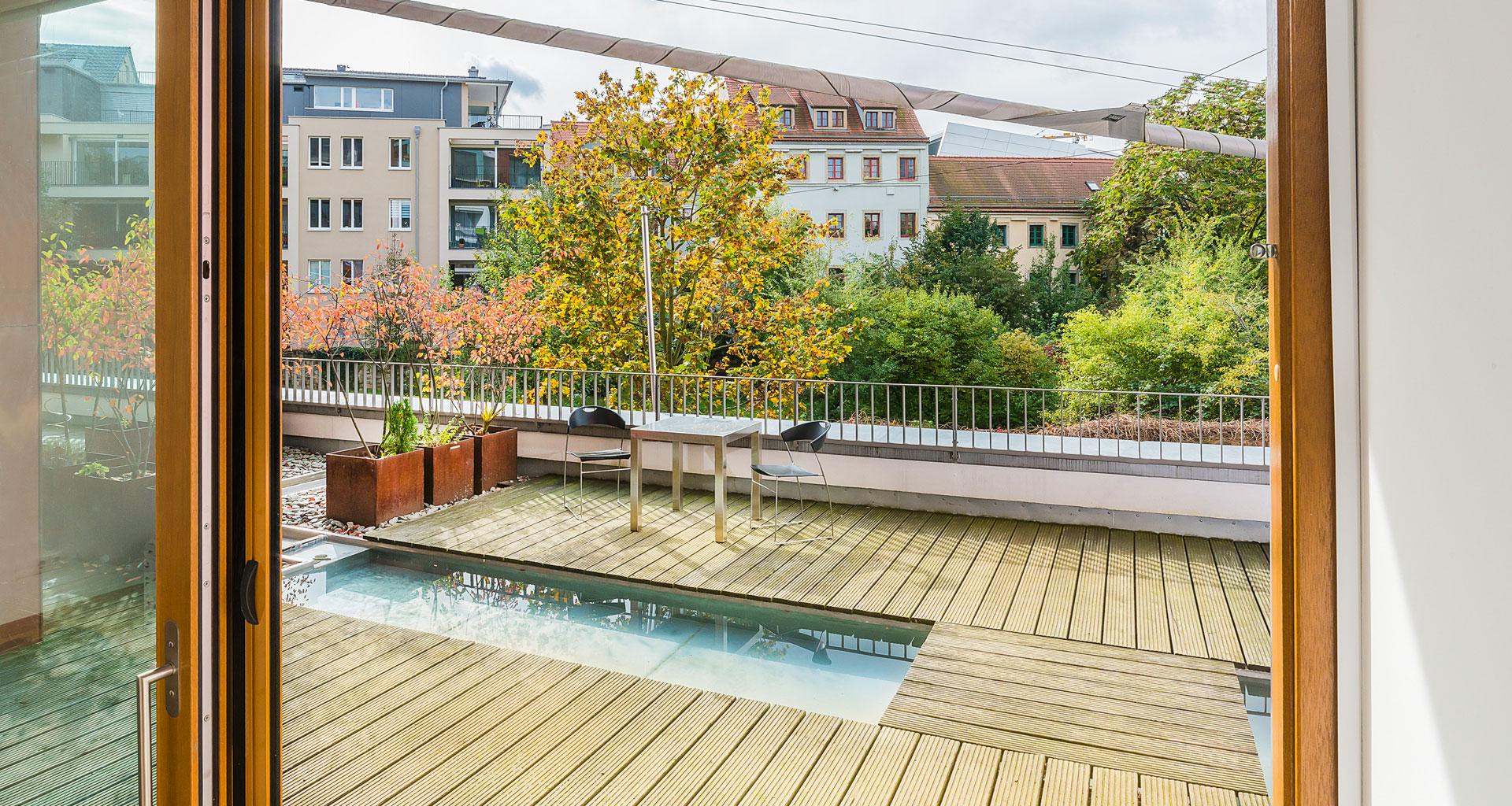 Beispiel Terasse Eigentumswohungen in Dresden