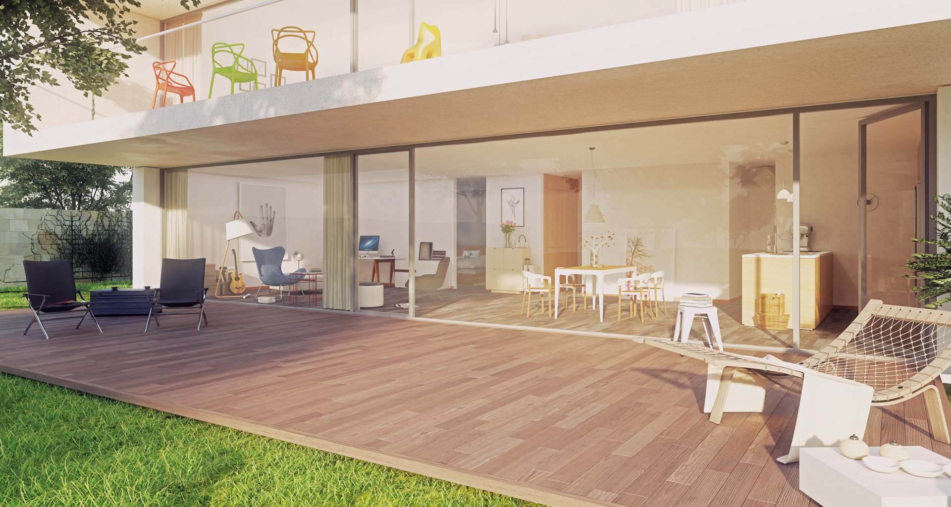 Beispiel Außenbereich- Eigentumswohnung Dresden